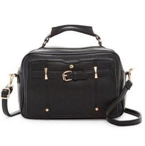 Black Boxy Satchel Handbag & Crossbody